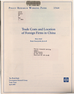 Trade Costs and Location of Foreign Firms in China PDF