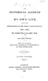 An Historical Account of My Own Life, with Some Reflections on the Times I Have Lived In. (1671-1731.)