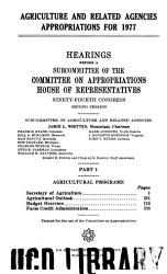 Agriculture and Related Agencies Appropriations PDF
