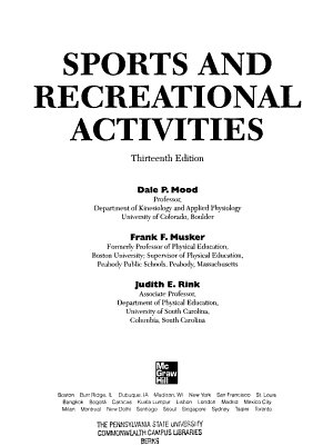 Sports and Recreational Activities