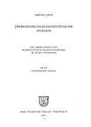 berlieferungsgeschichtliche Studien PDF
