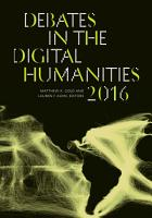 Debates in the Digital Humanities 2016 PDF