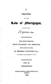 A Treatise on the Law of Mortgages: Volume 2