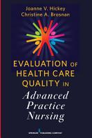 Evaluation of Health Care Quality in Advanced Practice Nursing PDF