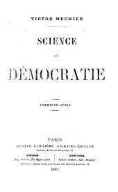 Science et Démocratie. Série 1