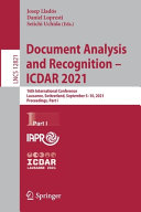 Document Analysis and Recognition – ICDAR 2021