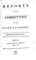 Reports from Committees of the House of Commons PDF