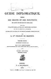 Guide diplomatique: Volume2,Partie1