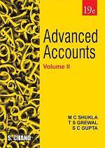 Advanced Accounts Volume–II, 19th Edition