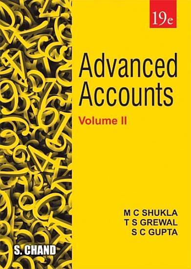 Advanced Accounts Volume   II  19th Edition PDF