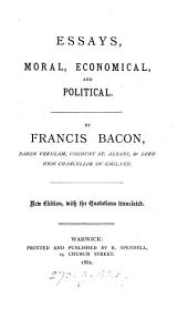 Essays, moral, economical, and political