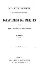 Bulletin mensuel des publications étrangères reçues par le Département des Imprimés de la Bibliothéque Nationale: Volume9