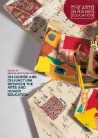 Discourse and Disjuncture between the Arts and Higher Education PDF
