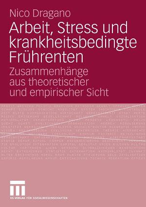 Arbeit  Stress und krankheitsbedingte Fr  hrenten PDF