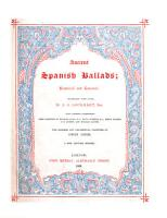 Ancient Spanish ballads  historical and romantic  Translated by J  G  Lockhart     Fifth edition PDF