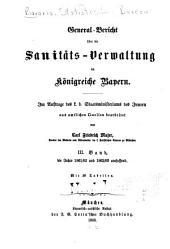 Bericht über das bayerische Gesundheitswesen: Bände 3-4