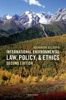 International Environmental Law  Policy  and Ethics PDF