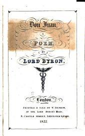 Don Juan: Cantos i to V