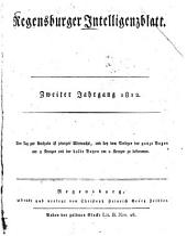 Regensburger Intelligenzblatt: Band 2