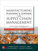Manufacturing Planning and Control for Supply Chain Management  The CPIM Reference  Second Edition PDF