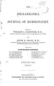 The Philadelphia Journal of Homoeopathy PDF