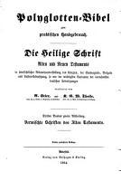 Polyglotten Bibel zum praktischen Handgebrauch PDF