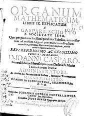 Organum mathematicum libris IX: Volume 1