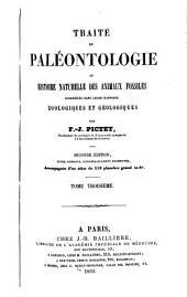 Traité de paléontologie: ou, Histoire naturelle des animaux fossiles considérés dans leurs rapports zoologiques et géologiques