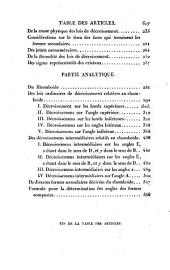 Traité de cristallographie, suivi d'une application des principes de cette science à la détermination des espèces minérales, et d'une nouvelle méthode pour mettre les formes cristallines en projection. 2 tom. [and] Atlas: Volume1