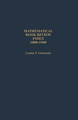 Download Mathematical Book Review Index  1800 1940 Book