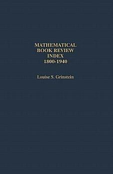 Mathematical Book Review Index  1800 1940 PDF