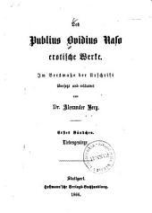 Erotische Werke: Liebesgesänge, Volume 1