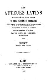 Cicéron. Discours pour Ligarius. (Expliqué littéralement, annoté et revu pour la traduction française par M. Materne.).