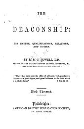 The Deaconship: Its Nature, Qualifications, Relations, and Duties