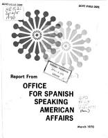 Report from Office for Spanish Speaking American Affairs PDF
