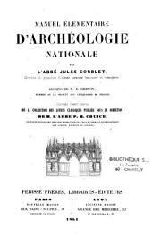 Manuel élémentaire d'archéologie nationale