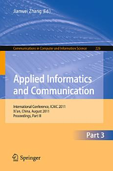 Applied Informatics and Communication  Part III PDF