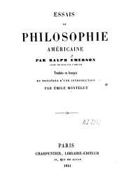 Essais de philosophie américaine