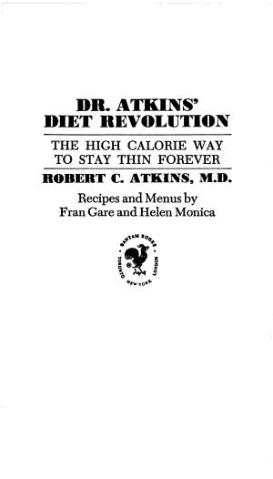Dr  Atkins  Diet Revolution PDF