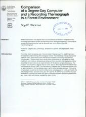 Comparison of a degree-day computer and a recording thermograph in a forest environment