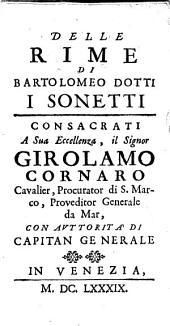 Delle rime di Bartolomeo Dotti i sonetti
