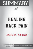 Summary of Healing Back Pain by John E. Sarno: Conversation Starters