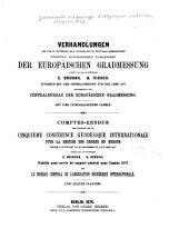 Verhandlungen der vom 27.september bis 2 october 1877 zu Stuttgart abgehaltenen fünften allgemeinen conferenz der europäischen gradmessung