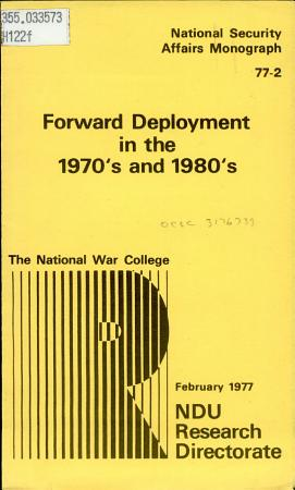 Forward Deployment in the 1970 s and 1980 s PDF