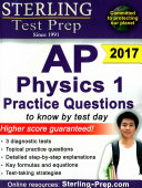 Sterling Test Prep AP Physics 1 Practice Questions Book