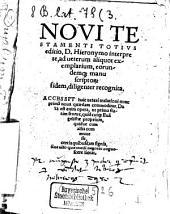 Novi testamenti totius editio