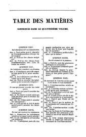 La Somme théologique de Saint Thomas: Volume14