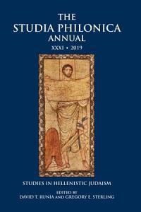 The Studia Philonica Annual XXXI  2019 PDF