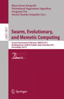 Swarm, Evolutionary, and Memetic Computing, Part II