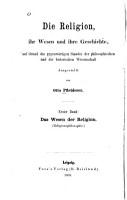 Die Religion  ihr Wesen und ihre Geschichte PDF